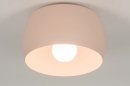 Plafondlamp 73778: modern, metaal, roze, rond #5