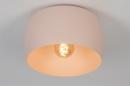 Plafondlamp 73778: modern, metaal, roze, rond #6