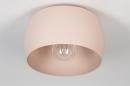 Plafondlamp 73778: modern, metaal, roze, rond #7