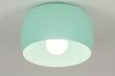 Plafondlamp 73780: modern, metaal, groen, mint #5