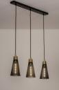 Hanglamp 73803: modern, retro, eigentijds klassiek, messing #1