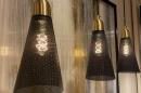 Hanglamp 73803: modern, retro, eigentijds klassiek, messing #13