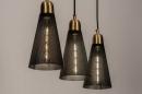 Hanglamp 73803: modern, retro, eigentijds klassiek, messing #2
