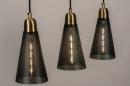 Hanglamp 73803: modern, retro, eigentijds klassiek, messing #4