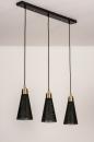 Hanglamp 73803: modern, retro, eigentijds klassiek, messing #6