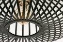 Plafondlamp 73840: modern, retro, metaal, zwart #3