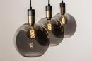 Hanglamp 73847: modern, eigentijds klassiek, art deco, glas #16