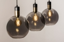 Hanglamp 73847: modern, eigentijds klassiek, art deco, glas #17
