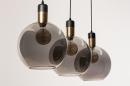 Hanglamp 73847: modern, eigentijds klassiek, art deco, glas #21