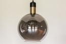 Hanglamp 73850: modern, retro, glas, zwart #14