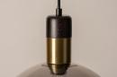 Hanglamp 73850: modern, retro, glas, zwart #15