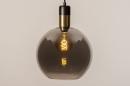 Hanglamp 73850: modern, retro, glas, zwart #16