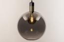 Hanglamp 73851: modern, retro, glas, zwart #10