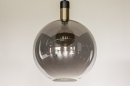 Hanglamp 73851: modern, retro, glas, zwart #14