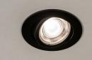 Inbouwspot 73871: modern, aluminium, metaal, zwart #10