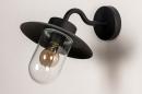 Buitenlamp 73888: landelijk rustiek, modern, eigentijds klassiek, glas #5