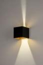 Wandlamp 73908: modern, aluminium, metaal, zwart #1