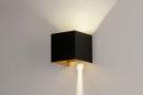 Wandlamp 73908: modern, aluminium, metaal, zwart #2