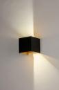Wandlamp 73908: modern, aluminium, metaal, zwart #4