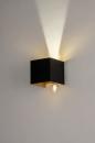 Wandlamp 73908: modern, aluminium, metaal, zwart #5