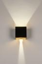 Wandlamp 73908: modern, aluminium, metaal, zwart #6