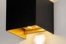 Wandlamp 73908: modern, aluminium, metaal, zwart #8