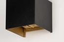 Wandlamp 73908: modern, aluminium, metaal, zwart #9