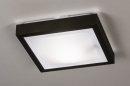 Plafondlamp 73918: modern, aluminium, kunststof, zwart #1