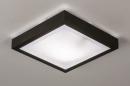 Plafondlamp 73918: modern, aluminium, kunststof, zwart #2