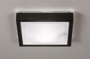 Plafondlamp 73918: modern, aluminium, kunststof, zwart #3