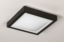 Plafondlamp 73918: modern, aluminium, kunststof, zwart #4