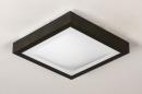 Plafondlamp 73918: modern, aluminium, kunststof, zwart #5