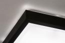 Plafondlamp 73918: modern, aluminium, kunststof, zwart #6