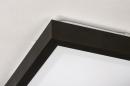 Plafondlamp 73918: modern, aluminium, kunststof, zwart #7