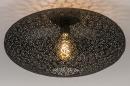 Plafondlamp 73940: modern, eigentijds klassiek, metaal, zwart #2