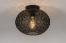 Plafondlamp 73942: modern, eigentijds klassiek, metaal, zwart #2