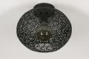 Plafondlamp 73942: modern, eigentijds klassiek, metaal, zwart #3