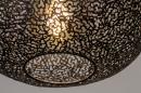 Plafondlamp 73942: modern, eigentijds klassiek, metaal, zwart #4