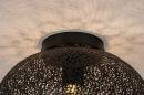 Plafondlamp 73942: modern, eigentijds klassiek, metaal, zwart #6