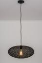 Hanglamp 73944: modern, eigentijds klassiek, metaal, zwart #1