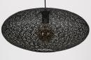 Hanglamp 73944: modern, eigentijds klassiek, metaal, zwart #5