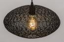 Hanglamp 73945: modern, metaal, zwart, mat #3