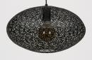 Hanglamp 73945: modern, metaal, zwart, mat #5