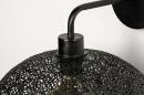 Wandlamp 73947: modern, metaal, zwart, mat #7