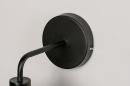 Wandlamp 73947: modern, metaal, zwart, mat #8