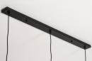 Hanglamp 73948: modern, eigentijds klassiek, metaal, zwart #13