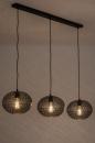 Hanglamp 73948: modern, eigentijds klassiek, metaal, zwart #2