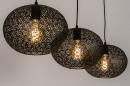 Hanglamp 73948: modern, eigentijds klassiek, metaal, zwart #4