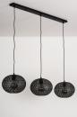 Hanglamp 73948: modern, eigentijds klassiek, metaal, zwart #7