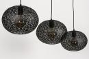 Hanglamp 73948: modern, eigentijds klassiek, metaal, zwart #8
